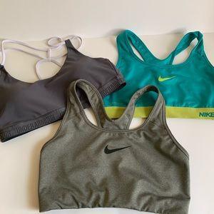 Medium sports bras nike and under armour